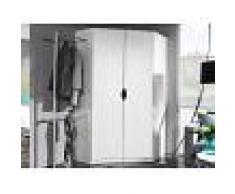Mobistoxx Armoire d'angle FREEDOM 2 portes blanc sans miroir