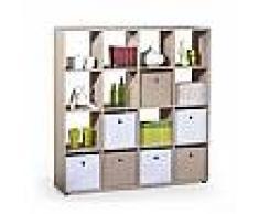 so inside Meuble de rangement / bibliothèque carré couleur bois Danang