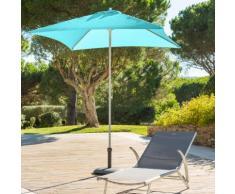 Parasol droit carré Anzio Émeraude Jardin