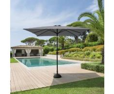 Parasol droit rectangulaire inclinable Fidji Ardoise Jardin