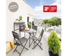Table de balcon repliable Fira Graphite Jardin