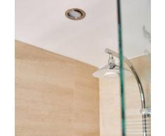 Kit 1 spot encastrer salle de bains Lindi orientable INSPIRE LED intégrée acier