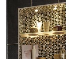 Anneau pour spot à encastrer salle de bains Jaslo fixe INSPIRE GU10 aluminium