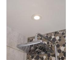 Kit 1 spot à encastrer salle de bains Kilia fixe led INSPIRE LED intégrée blanc
