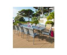 Table de jardin extensible Piazza Aluminium (270 x 90 cm) - Gris ardoise