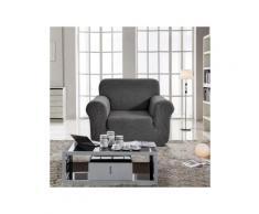 Housse de fauteuil extensible Prisca Gris acier