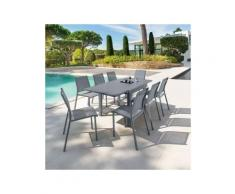 Table de jardin extensible Piazza Aluminium (180 x 90 cm) - Gris ardoise