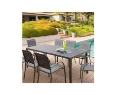 Table de jardin Aluminium Piazza (210 x 100 cm) - Gris anthracite