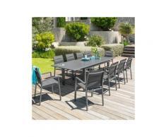 Table de jardin extensible Aluminium Azua (254 x 100 cm) - Gris ardoise