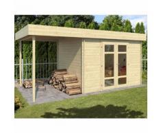 Abri de jardin en bois + avancée HÉLIOS 8,3 m² - 28 mm