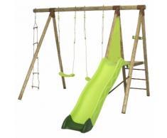 Portique en bois VOLVI Trigano 2,30 m. + toboggan 4 enfants