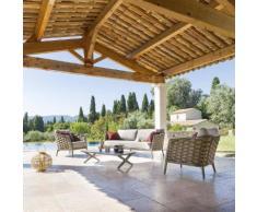 Salon de jardin Embruns 5 places - Aluminium, Mailles tressées, Polyester