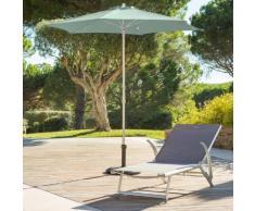 Parasol droit rond Anzio Vert céladon Jardin