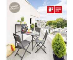 Table de balcon repliable Fira Graphite Jardin