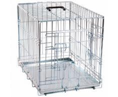 Cage pour chien métallique 2 portes Taille M 93 cm x l 57 cm x H 62 cm