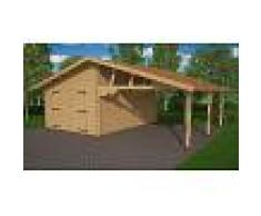 House and Garden GARAGE FERME & CARPORT EN BOIS 40M2 - CHEVREFEUILLE