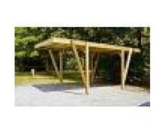 House and Garden Carport en bois autoclave 17 m2 - Alpin