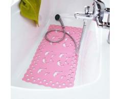 Tapis douche baignoire dauphin - rose