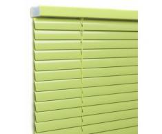 Store vénitien aluminium Lames 25mm, Tendance vert bambou, sur mesure
