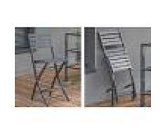 Chaise haute de jardin pliante en aluminium - Marius