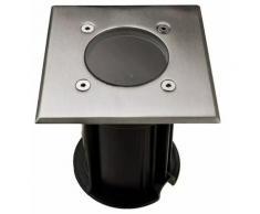 Lampe de sol design en acier inoxydable pour balcon en verre et verre dans un ensemble comprenant