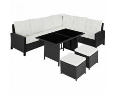 Tectake - Canapé de jardin BARLETTA modulable, variante 2 - table de jardin, mobilier de jardin,