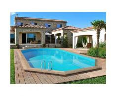 Habitat Et Jardin - Piscine bois ' Palma ' - 7.57 x 4.07 x 1.31 m