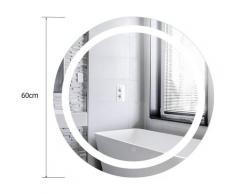 Anti-buée Miroir lumineux LED de salle de bain dim. 60 x 4 x 60 cm