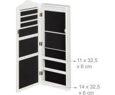 Armoire pour bijoux, miroir, fermeture magnétique, montage mural, suspendu, miroir bijoux, HlP