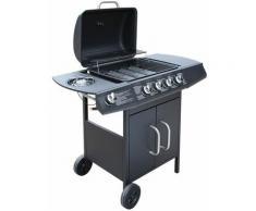 Youthup - Barbecue à gaz 4 + 1 zone de cuisson Noir