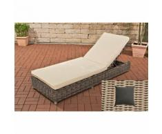 Lit de relaxation Burano rond/blanc perle Anthracite