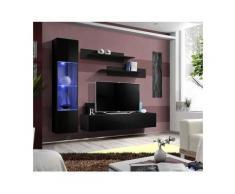 Meuble TV FLY G3 design, coloris noir brillant. Meuble suspendu moderne et tendance pour votre