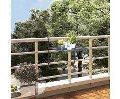 Youthup - Table de balcon Noir 60x40 cm Acier