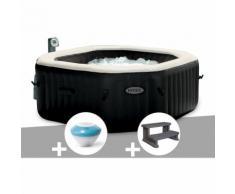 Spa gonflable Intex PureSpa octogonal Bulles et Jets 4 places + Enceinte LED + Marche Spa