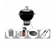 Barbecue Weber Master-Touch GBS 57 cm Noir + Housse + Kit Cheminée + Plancha + Kit Ustensile