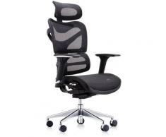 Fauteuil de bureau ergonomique Manresa avec Dossier inclinable noir