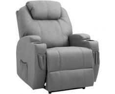 Homcom - Fauteuil luxe de relaxation et massage inclinaison dossier repose-pied électrique