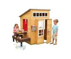 Maison de jouet en bois d'extérieur moderne