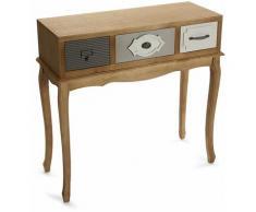 Provenzal Meuble d'Entrée Étroit, Table console, 80,5x31,5x83cm - Marron - Versa