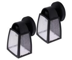 2x appliques LED dimmable FILAMENT lanternes façades éclairage extérieur ALU verre jardin cour