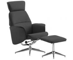 Asupermall - Fauteuil inclinable avec repose-pied Anthracite Similicuir