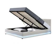 Lit LED avec coffre 'Anastasia' - 180 x 200 cm - Blanc