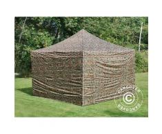Tente pliante Chapiteau pliable Tonnelle pliante Barnum pliant FleXtents PRO 4x4m Camouflage, avec