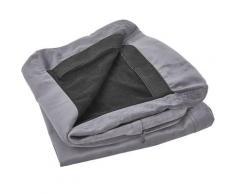 Housse en velours gris pour fauteuil BERNES