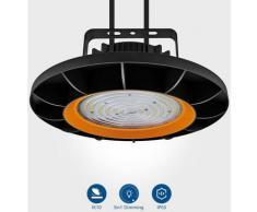 4×Anten 200W UFO Projecteur LED Dimmable Projecteur LED d'éclairage Industriel Suspension IP65