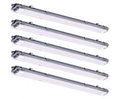 Ensemble de 5 lampes de baignoire à LED de 44 watts Tubes IP65 pour le stockage des plafonniers à
