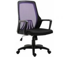 Fauteuil de bureau Clever noir/violet