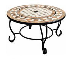 Cheminée bio de table en céramique avec brasero et barbecue
