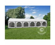 Tente de réception, SEMI PRO Plus CombiTents® 6x12m 4-en-1, Gris/Blanc