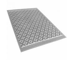 Tapis d'extérieur polyvalent gris au design moderne et cosy 120 x 180 cm